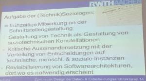 Aufgabe Technik Soziologie - Roger Häußling